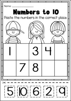 Numbers to 10. Huge Printable Kindergarten Math Worksheet Pack.