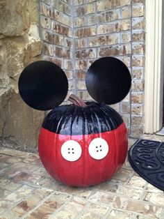 No Carving Mickey Mouse Pumpkin Decoration Both Mickey Mouse Party and Halloween…
