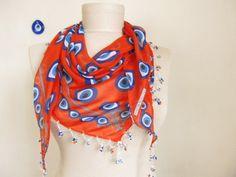 women scarf  women scarves evil eye  turkish scarves by ScarfsSale