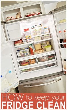 How to clean and keep your fridge CLEAN. Awesome tips and organization ideas! #cleaning #home
