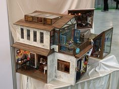 Miniature French style cafe with sky lights
