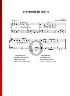 Leise rieselt der Schnee von Eduard Ebel -  Weihnachtslieder für Klavier Piano Sheet Music, Songs, Special Occasion, Traditional, Winter, Holiday, Let It Snow, Guitar, Day Care
