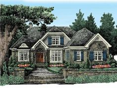 Eplans Cottage House Plan - Fairytale Charm - 2240 Square Feet and 4 Bedrooms from Eplans - House Plan Code HWEPL13248