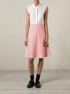 Peter Jensen Striped A-line Skirt - Ursa - Farfetch.com