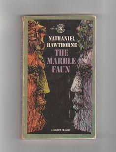 "1960s Nathaniel Hawthorne vintage paperback, ""The Marble Faun"" @AnemoneReadsVintage"