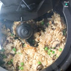 This Garlic Mushroom Risotto is one of the easiest dishes that you can can make in a Tefal Actifry XL, and a great Low Point and Low Calorie Meal! Garlic Mushrooms, Stuffed Mushrooms, Actifry, Mushroom Risotto, Risotto Recipes, Syn Free, Slimming World Recipes, Low Calorie Recipes, Meal Planner