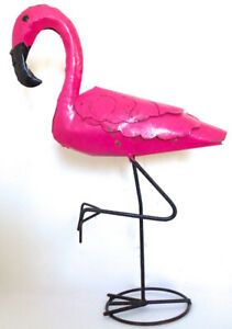 Vintage. Collection. Grand flamand rose en fer. Tout Rose, Oeuvre D'art, Articles, Vintage, Animal, Collection, Gardens, Objects, Animaux