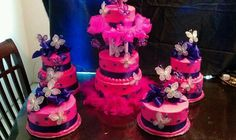Butterfly party cake, quince cake, sixteenth birthday cake