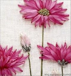 ribbon-embroidered flowers by lolita