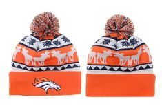 f3b8d2f890e Men s Denver Broncos New Era Heather Gray Sideline Official Sport Knit Hat