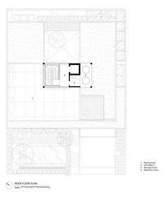 Image 40 of 42 from gallery of Private House in Permata Hijau / Rafael Miranti Architects. Modern Tropical House, Tropical Houses, Inside Home, House Roof, House Layouts, Common Area, 2nd Floor, Architects, Floor Plans