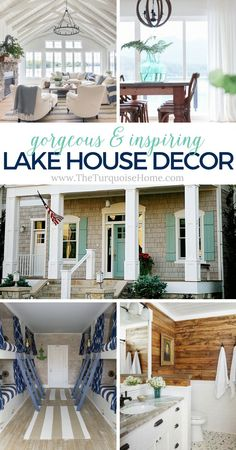 gorgeous & inspiring Lake House Decor Treatment Projects Care Design home decor Style At Home, Country Style Homes, Small Lake Houses, Rustic Lake Houses, Home Decor Styles, Cheap Home Decor, Haus Am See, Lake Decor, Coastal Decor