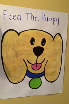 Puppy Party - Feed The Puppy (pin the tail on the donkey game)