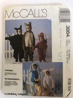 McCalls 3884 Costume Sewing Pattern X Small Dog Cat Bear Bunny Bat Devil   eBay