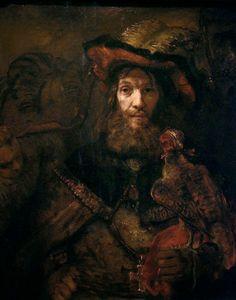 """drakontomalloi: """" Rembrandt - Knight with a Falcon. 1661 """""""