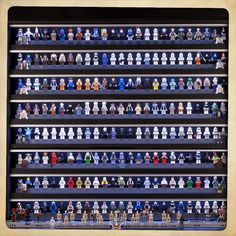 https://flic.kr/p/bVQ1DZ | Minifig Collection | Frontal View. Star Wars Minifig Display 2.0