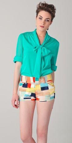 bow shirt and shorts