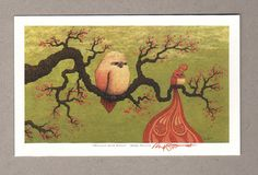 Marq Spusta's Branches with Birds mini giclee print