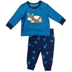 On sale for $28 shipped {RV $42}  #Joules Infant Boy Byron Striped Cow Outfit
