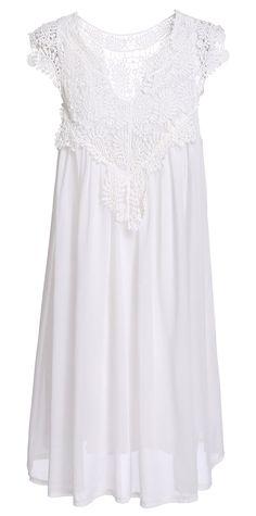 CRAVOG Sommerkleid Damen elegantes Spitzen Kleid Strandtunika: Amazon.de…