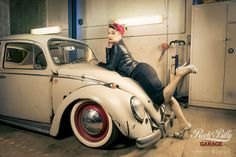 https://flic.kr/p/sp5F6R | Rockabilly Garage | Rockabilly inspired shooting with one of my favorite Model as well as a great patina styled VW Beetle.