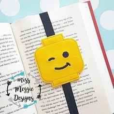 Block Man Head Bookmark ITH embroidery design file