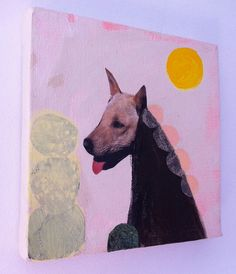 Dog Collages by Katherine Streeter - Dog Milk