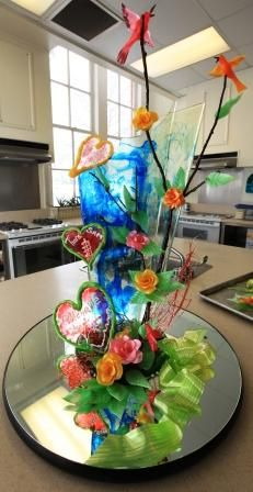 Candy sculpture at the Culinary Arts Institute at MUW