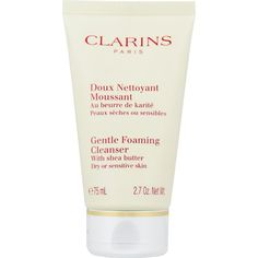 Clarins Gentle Foaming Cleanser for Dry or Sensitive Skin Travel Size 75 ml Travel Size Products, Sensitive Skin, Personal Care, Makeup, Beauty, Cleanser, Velvet, Make Up, Maquiagem