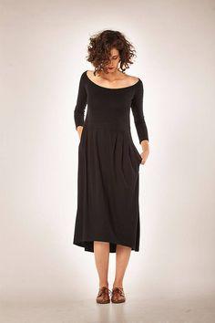 Women Dress/ Winter Dress/ Little Black Dress/ Midi