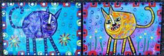 Crushed Coke Can Kitty Cats created by Tracey Ann Finley #outsiderart