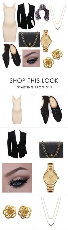 """""""Untitled #34"""" by ambitiousonne ❤ liked on Polyvore featuring Topshop, Wet Seal, Balmain, Chanel, Lacoste and Michael Kors"""