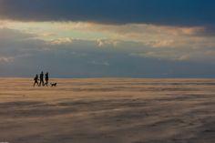 Wandelen in de storm op de @zandmotor