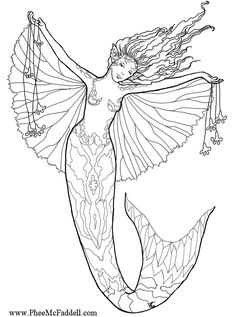 Free Mermaid Colouring Pages for Grown Ups Mermaid Beach