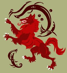 Celtic Wolf Rampant by =ESDA06 on deviantART