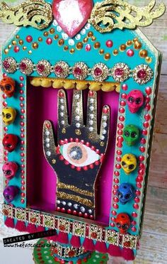 Creative Expressions Altered Shrine - Day of the Dead