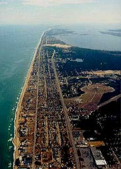 Outer Banks aerial photo.