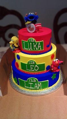 birthday cake for triplets - Google Search