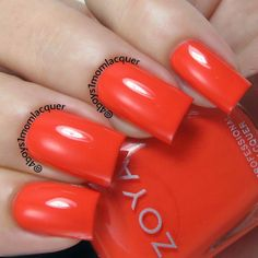 Summer Red Nail Polish! Zoya Rocha from the Zoya Tickled Collection available on http://www.zoya.com