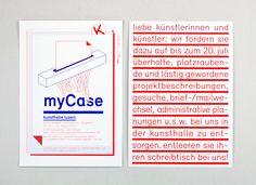 myCase - Kunsthalle Luzern. Grafik für Einladungskarte und Plakate im Corporate Design der Kunsthalle Luzern