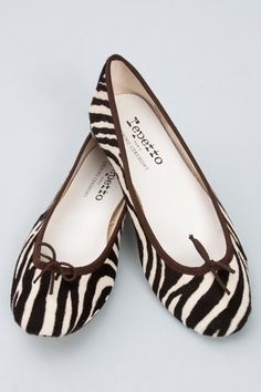 Zebra Repetto Flats.