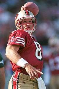 Steve Young, 49ers quarterback  1987 to 1999