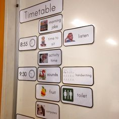classroom visual timetable template .