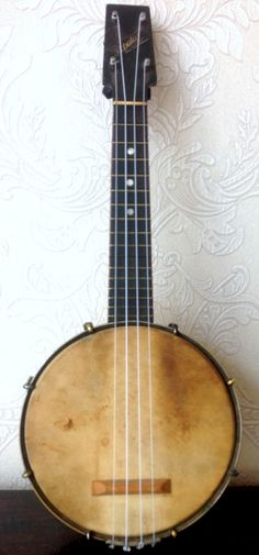 c1928 Windsor Popular Banjolele - the 1920s version of a pawn shop Stratocaster (thanks to Pete G for the submission - more welcome) --- https://www.pinterest.com/lardyfatboy/
