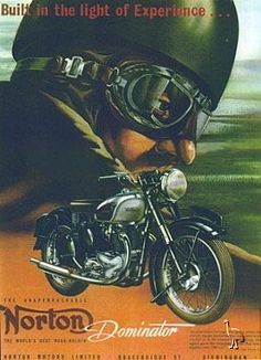Assorted ads from Norton. Norton Motorcycle, Motorcycle Posters, Motorcycle Art, Bike Art, Motorcycle Humor, Old School Art, Monster Cycle, Norton Dominator, Scooters
