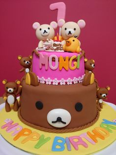 2 Tier Rilakkuma Chocolate Buttercake A special Rilakkuma cake for her daughter's birthday party because she like Rilakkuma very much. 19th Birthday, Birthday Parties, Happy Birthday, Birthday Cakes, Birthday Ideas, Rilakkuma Cake, Buttercream Fondant, Chocolate Buttercream, Daughter Birthday