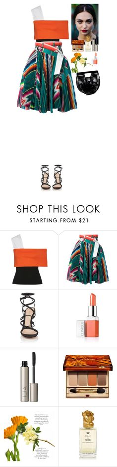 """Outfit"" by eliza-redkina ❤ liked on Polyvore featuring Rosetta Getty, Sacai, Gianvito Rossi, Clinique, Ilia, Clarins, Sisley, Cult Gaia, Summer and outfit"