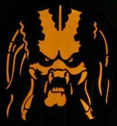 Predator Mask, Predator Alien, Stencil Art, Stencils, Pumpkin Carving Patterns, Pumpkin Stencil, Alien Art, Scroll Saw Patterns, Abstract Wall Art