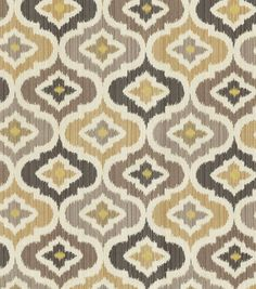 Curtains similar to this fabric for my downstairs bedroom Home Decor Print Fabric- Waverly Lunar Lattice Mineral
