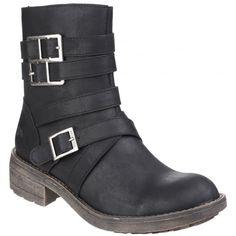 Throttle Zip Up Black Boots